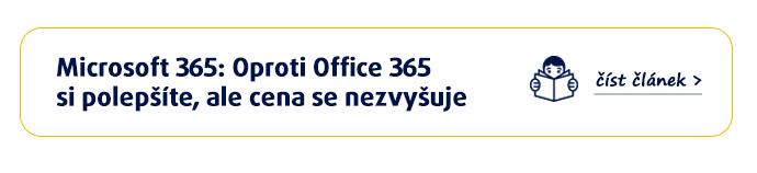 Microsoft 365 za nezměněnou cenu
