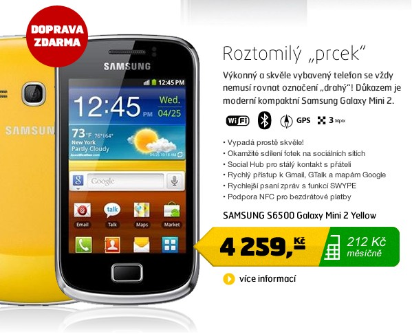 S6500 Galaxy Mini 2 Yellow
