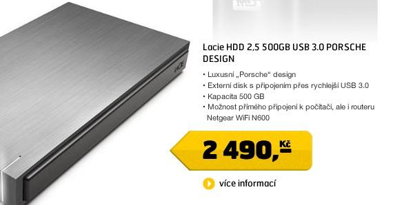 HDD 2,5 500GB USB 3.0 PORSCHE DESIGN