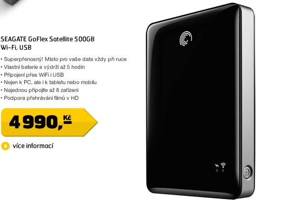 GoFlex Satellite 500GB Wi-Fi, USB