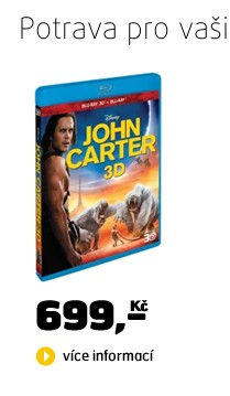 John Carter: Mezi dvěma světy BD (3D+2D)