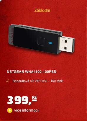 WIFI N150 USB adaptér WNA1100-100PES