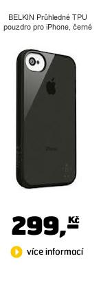 BELKIN Průhledné TPU pouzdro pro iPhone, černé
