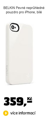 BELKIN Pevné neprůhledné pouzdro pro iPhone, bílé