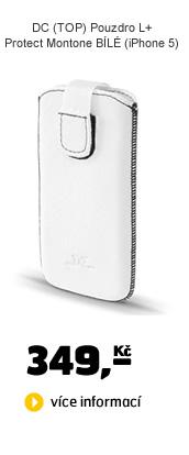 DC DC (TOP) Pouzdro L+ Protect Montone BÍLÉ (iPhone 5)