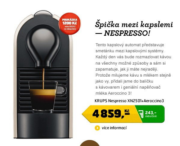 Nespresso XN2501+aeroccino
