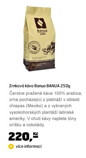 BANUA 250g, zrnková káva