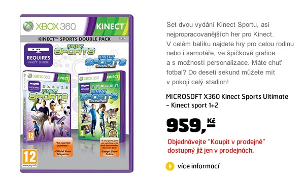 X360 Kinect Sports Ultimate - Kinect sport 1+2
