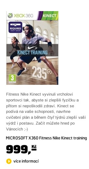 X360 Fitness Nike Kinect training