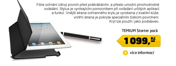 Starter pack pro Apple iPad2 a New iPad - obal, stylus, 2x screen protection
