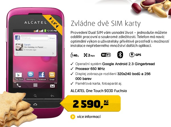 One Touch 903D Fuchsia