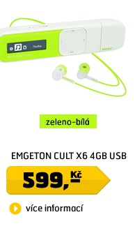 CULT X6  4GB  White/Green  USB plug in