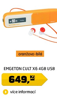 CULT X6  4GB  Orange/White USB plug in