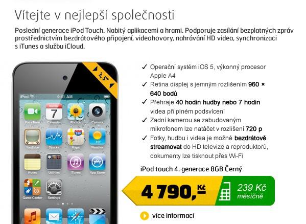 iPod touch 4.gen 8GB Black
