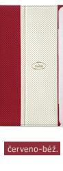 Pouzdro pro New iPad a iPad 2 včetně stojánku s magnetem, eko-kůže, červeno-béžové