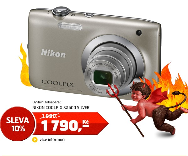 COOLPIX S2600 SILVER