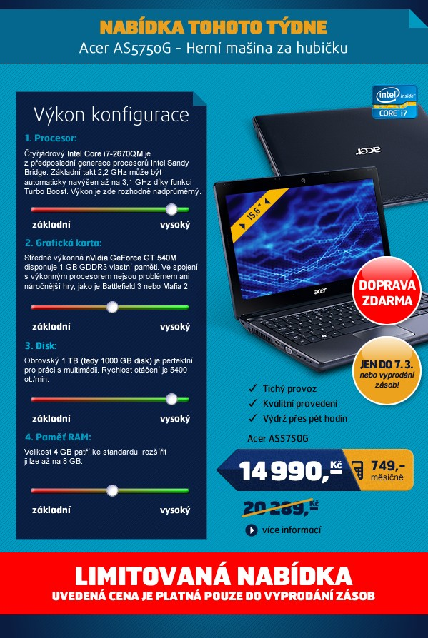 Acer AS5750G-2674G1TMnkk/15.6/2670/1T/4G/NV/B/7HP