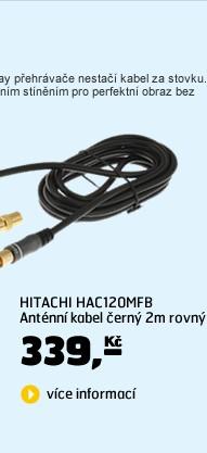 HAC120MFB Anténní kabel černý 2m rovný /1238990/