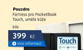 Pouzdro Fortress pro PocketBook Touch bílé, umělá kůže