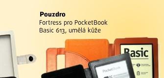 Pouzdro Fortress pro PocketBook Basic 613, hnědé