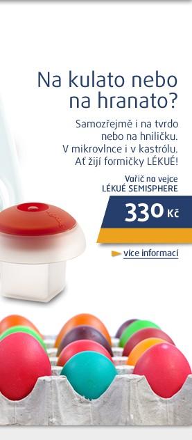Semisphere vařič na vejce polokoule red
