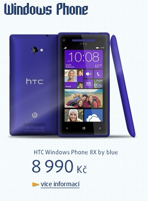 Windows Phone 8X by HTC blue