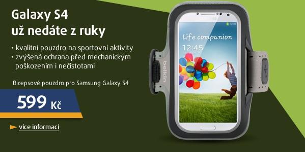 Bicepsové pouzdro pro Samsung Galaxy S4, černé