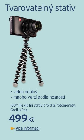 Flexibilní stativ pro dig. fotoaparáty, Gorilla Pod, nosnost 325g