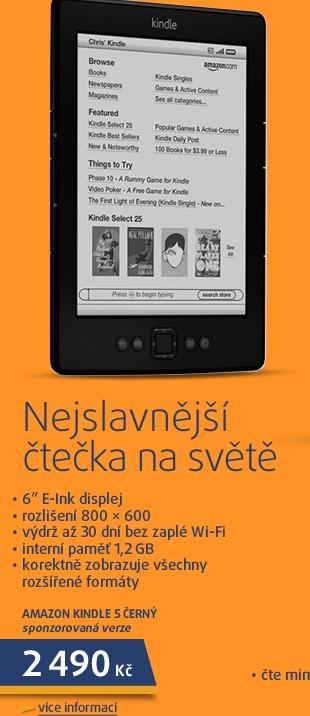 Kindle 5 černý sponzorovaná verze