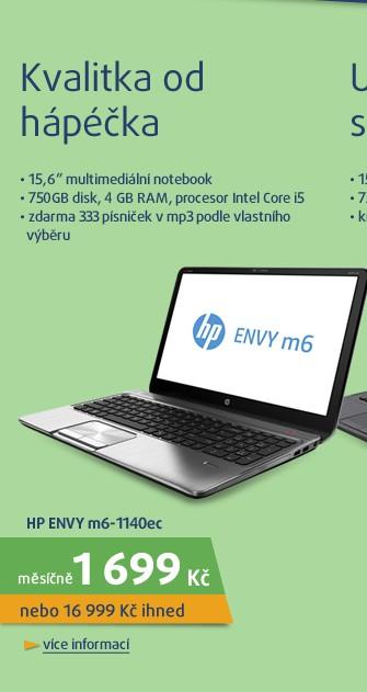 ENVY m6-1140ec i53210M/4G/750/ATI/DVD/8 silver