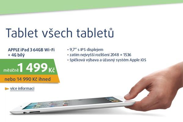 iPad 3 64GB Wi-Fi + 4G bílý