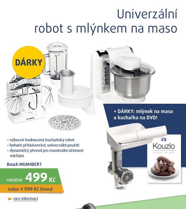 MUM48CR1+mlýnek na maso a  kuchařka na DVD