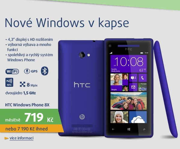 Windows Phone 8X by HTC blue