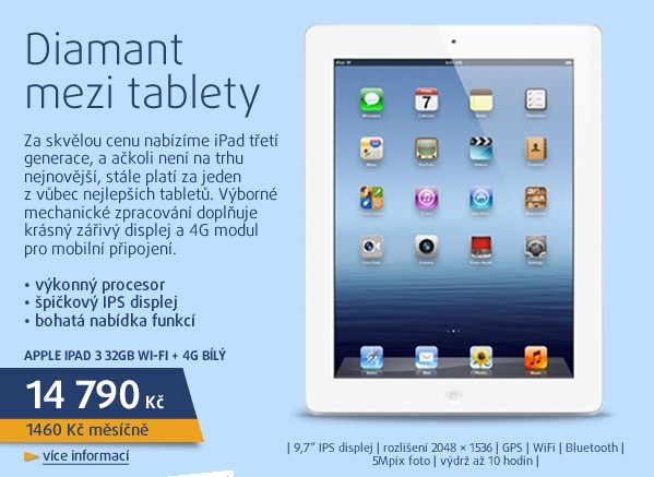 iPad 3 32GB Wi-Fi + 4G bílý