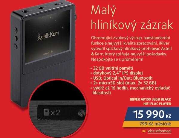 AK100 32GB BLACK HIFI FLAC PLAYER
