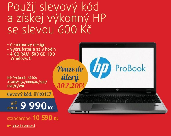 HP ProBook 4540s/15,6/1000/4G/500/DVD/B/W8