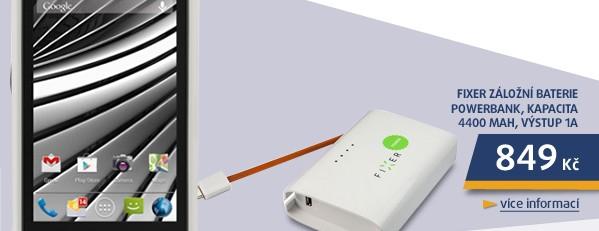 Záložní baterie Powerbank, kapacita 4400 mAh, výstup 1A