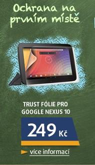 Fólie pro Google Nexus 10, 2ks v balení, hadřík, čirá