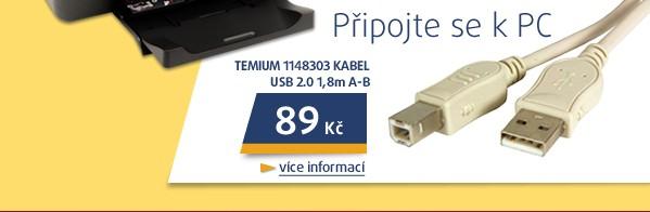 1148303 kabel USB 2.0  1,8m A-B