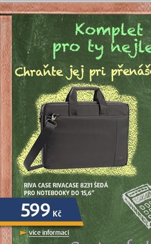 RivaCase 8231 šedá pro notebooky do 15,6