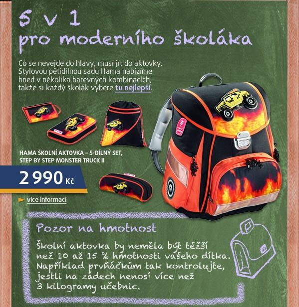 Školní aktovka - 5-dílný set, Step by Step Monster Truck II