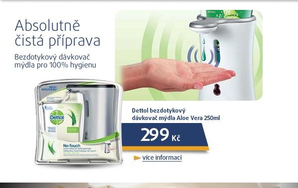 Bezdotykový dávkovač mýdla Aloe Vera 250ml