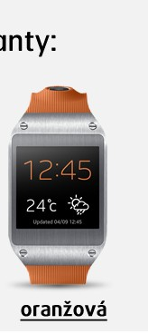 Galaxy Gear Orange hodinky