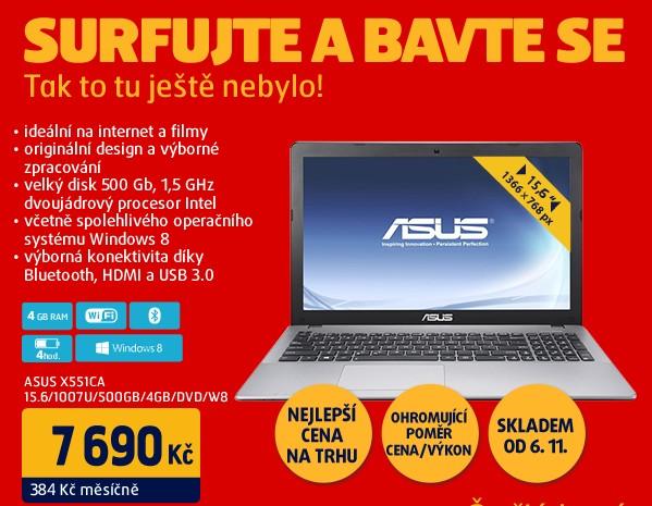 X551CA 15.6/1007U/500GB/4GB/DVD/W8
