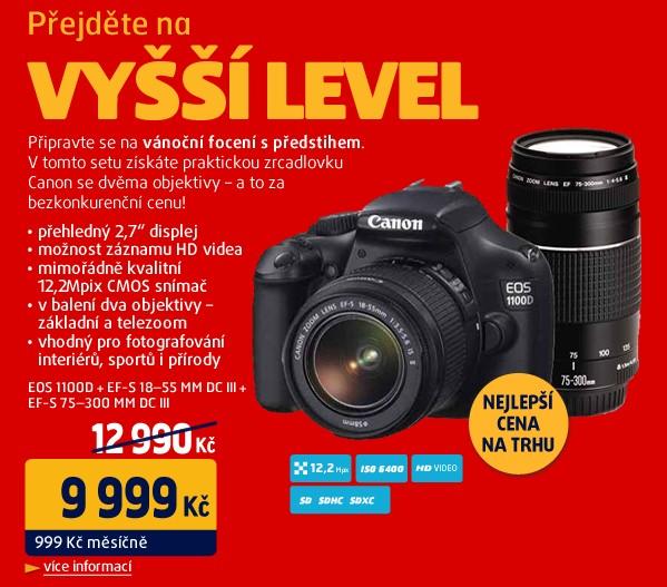 Canon EOS 1100D + EF-S 18-55mm DC III + EF-S 75-300mm DC III