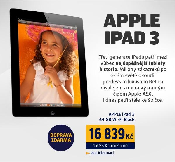 iPad 3 64GB Wi-Fi černý