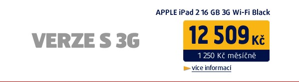 iPad 2 16GB 3G Wi-Fi černý