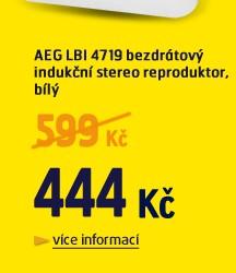 LBI 4719 bezdrátový indukční stereo reproduktor, bílý