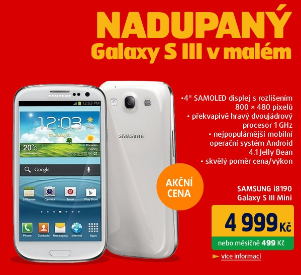 i8190 Galaxy SIII Mini Ceramic White NFC