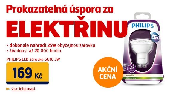 LED žárovka GU10 3W (náhrada 25W žárovky) 150lm 2700K